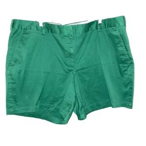 Land's End Kelly Green shorts size 24w 24 Chino
